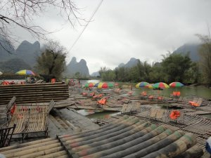 The bamboo rafts of Yangshuo