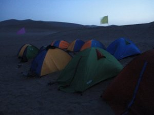 Camping in the Gobi Desert