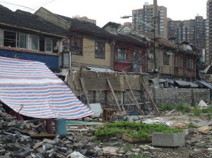 One of the poorer areas of Shanghai that has been slated for demolition.
