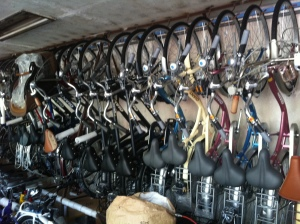 This bike shop was LEGIT.  So many bikes in probably one of the tiniest rooms I have ever seen.
