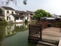 Tongli is such a beautiful water town. From the moment we stepped into the gate of the enclosed area, we were greeted with picturesque sites like this one.