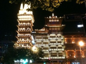 Nothing beats the views by Jing'An Temple at night!