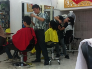 It looked just like a cheap salon in the Village!  But it was the same cost as a cup of coffee!