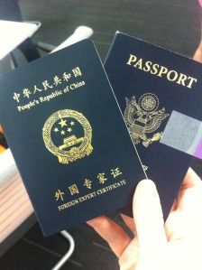 It's official - residence permit in the passport and FEC in hand.  That's right, I'm a FOREIGN EXPERT.  Boo-yah!