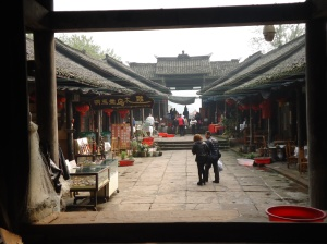 The entrance to the fishing village outside of the Leshan UNESCO site.