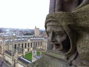 The view from the top of the tower.  Quite a unique perspective on Oxford as a whole.