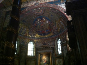 Every corner of the inside of Santa Maria Maggiore was filled with spectacular artwork.  Rome, in my books, is a living and breathing example of what society was able to accomplish pre-Facebook-world!